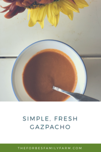 Fresh, Simple Gazpacho