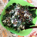 Spinach Pomegranate Pistachio Salad